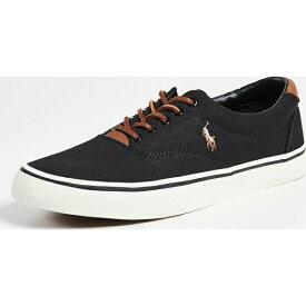 【クーポンで最大2000円OFF】(取寄)ポロ ラルフローレン ソートン ロウ トップ スニーカー Polo Ralph Lauren Thorton Low Top Sneakers Black