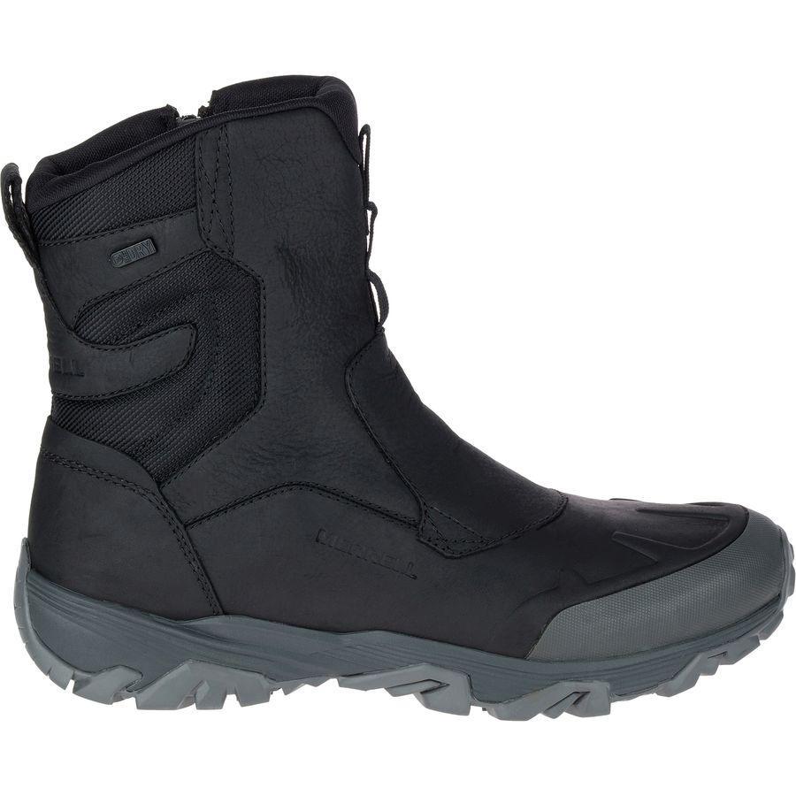(取寄)メレル メンズ コールドパック アイス+ 8in ジップ ポーラー ブーツ Merrell Men's Coldpack Ice+ 8in Zip Polar Boot Black