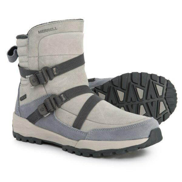(取寄)メレル レディース アイスパック ミッド ジップ ポーラー ウィンター ブーツ Merrell Women Icepack Mid Zip Polar Winter Boots Monument