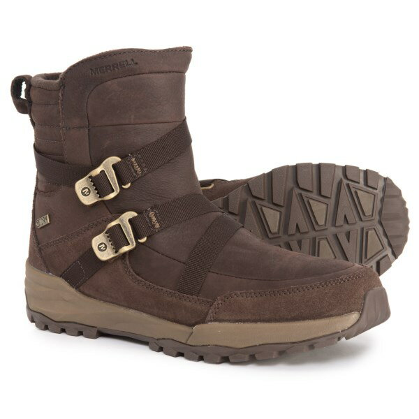 (取寄)メレル レディース アイスパック ミッド ジップ ポーラー ウィンター ブーツ Merrell Women Icepack Mid Zip Polar Winter Boots Espresso