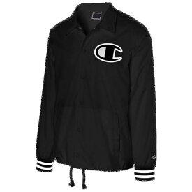 (取寄)チャンピオン メンズ サテン コーチ ジャケット Champion Men's Satin Coaches Jacket Black