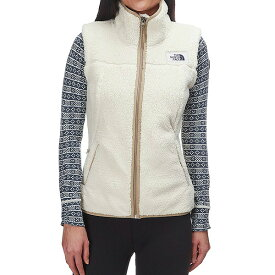 ノースフェイス フリースベスト レディース ホワイト The North Face Women Campshire Fleece Vest Vintage White/Dune Beige