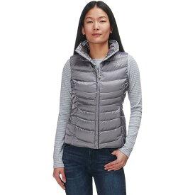 (取寄)ノースフェイス レディース アコンカグア 2 ダウン ベスト The North Face Women Aconcagua II Down Vest Shiny Mid Grey