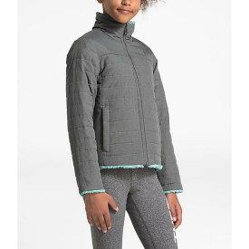 (取寄)ノースフェイス ガールズ リバーシブル モスブッド スワール ジャケット The North Face Girls' Reversible Mossbud Swirl Jacket TNF Medium Grey Heather / Windmill Blue