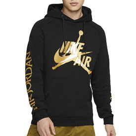 ジョーダン メンズ パーカー ジャンプマン NIKE AIR ダブルロゴ クラシック フリース ブラック ゴールド Jordan Men's Jumpman Classics Fleece Hoodie Black Gold