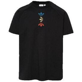(取寄)アディダス メンズ オリジナルス スペース テック Tシャツ Men's adidas Originals Space Tech T-Shirt Black Lush Blue