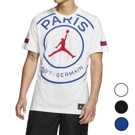 NIKE PSG ジョーダン パリサンジェルマン Tシャツ メンズ ジャンプマン ロゴ ブラック/ホワイト/ブルー Jordan Men's PSG Jumpman Logo T-Shirt 大きいサイズ 送料無料