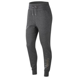 (取寄)ナイキ レディース グラム ダンク フリース パンツ Nike Women's Glam Dunk Fleece Pant Charcoal Heather Dark Steel Grey Metallic Silver
