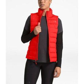 【クーポンで最大2000円OFF】(取寄)ノースフェイス レディース ストレッチ ダウン ベスト The North Face Women's Stretch Down Vest Fiery Red