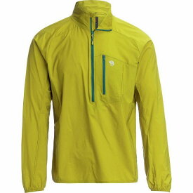 (取寄)マウンテンハードウェア メンズ コア プレシェル プルオーバー ジャケット Mountain Hardwear Men's Kor Preshell Pullover Jacket Dark Citron