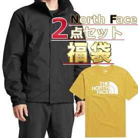 ノースフェイス ジャケット Tシャツ 福袋 メンズ 2点セット USAモデル THE North Face 送料無料 メンズ ブランド 福袋 お得な半袖Tシャツ ジャケットの2点セット 取寄 送料無料