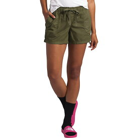 (取寄)ノースフェイス レディース モーション プルオン 6 インチ ショット The North Face Women's Motion Pull-On 6 Inch Short Burnt Olive Green