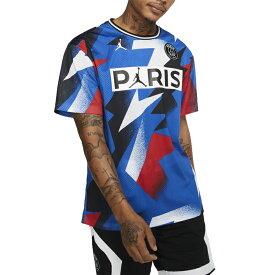 NIKE PSG ジョーダン Tシャツ メンズ パリサンジェルマン ブルー パリ メッシュ トップ Jordan Men's Paris Mesh Top Hyper Cobalt 送料無料