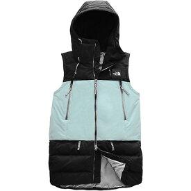 【マラソン ポイント10倍】(取寄)ノースフェイス レディース パリー ダウン ベスト The North Face Women's Pallie Down Vest TNF Black / Cloud Blue