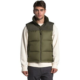 (取寄)ノースフェイス ダウンベスト メンズ エコ ヌプシ ベスト The North Face Men's Eco Nuptse Vest Burnt Olive Green / New Taupe Green 送料無料