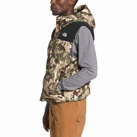 (取寄)ノースフェイス メンズ バーラム ダウン ベスト The North Face Men's Balham Down Vest Burnt Olive Green Digi Topo Print