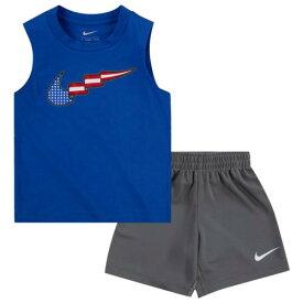 (取寄)ナイキ ボーイズ スウッシュ プレイ ショート - ボーイズ トドラー Nike Boys Swoosh Play Short - Boys' Toddler Smoke Grey