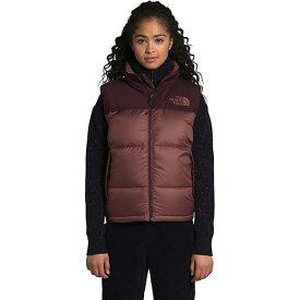 (取寄)ノースフェイス ダウンベスト レディース エコ ヌプシ ベスト The North Face Women's Eco Nuptse Vest Marron Purple / Root Brown 送料無料