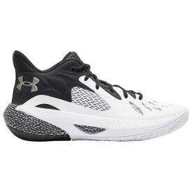 (取寄)アンダーアーマー バッシュ メンズ シューズ ホバー ハボック 3 バスケットシューズ UNDER ARMOUR Men's Shoes Hovr Havoc 3 Black White Metallic Silver