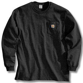 (取寄)カーハート メンズ ワークウェア ポケット ロング スリーブ Tシャツ Carhartt Men's Workwear Pocket Long Sleeve T-Shirt Black