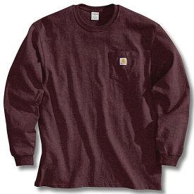 (取寄)カーハート メンズ ワークウェア ポケット ロング スリーブ Tシャツ Carhartt Men's Workwear Pocket Long Sleeve T-Shirt Port