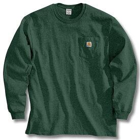 (取寄)カーハート メンズ ワークウェア ポケット ロング スリーブ Tシャツ Carhartt Men's Workwear Pocket Long Sleeve T-Shirt Hunter Green