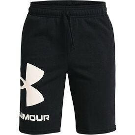 (取寄)アンダーアーマー ボーイズ ライバル フリース ロゴ ショーツ Under Armour Boy's Rival Fleece Logo Shorts Black / Onyx White 送料無料