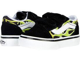 (取寄)バンズ オールド スクール V Vans Kids Old Skool V (Infant/Toddler) (Slime Flame) Black/True White