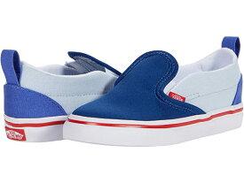 (取寄)バンズ スリッポン V Vans Kids Slip-On V (Infant/Toddler) (Color-Block) Baja Blue/High Risk Red
