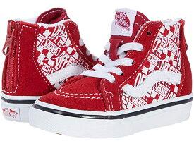 (取寄)バンズ ジップ Vans Kids Sk8-Hi Zip (Infant/Toddler) (Off The Wall) Chili Pepper/Racing Red