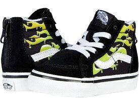 (取寄)バンズ ジップ Vans Kids Sk8-Hi Zip (Infant/Toddler) (Slime Flame) Black/True White