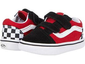 (取寄)バンズ オールド スクール V Vans Kids ComfyCush Old Skool V (Infant/Toddler) (Checkerboard) Black/Red