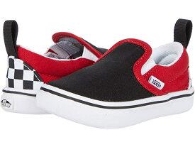 (取寄)バンズ スリッポン V Vans Kids ComfyCush Slip-On V (Infant/Toddler) (Checkerboard) Black/Red