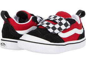 (取寄)バンズ ニュー スクール V Vans Kids ComfyCush New Skool V (Infant/Toddler) (Checkerboard) Black/Red
