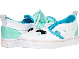(取寄)バンズ スリッポン V Vans Kids Slip-On V UNI (Infant/Toddler) (Unicorn) Blue Atoll/Iridescent