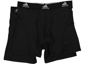 (取寄)アディダス メンズ スポーツ パフォーマンス クリマライト 2パック ボクサー ブリーフ adidas Men's Sport Performance ClimaLite 2-Pack Boxer Brief Black/Black/Black/Black