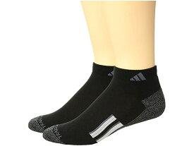 (取寄)アディダス クリマライト 2 ロウ カット ソックス 2パック adidas Climalite X II Low Cut Socks 2-Pack Black/Black/Onix Marl/White/Onix