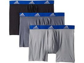 (取寄)アディダス クリマライト ボクサー ブリーフ 3パック adidas Climalite Boxer Brief 3-Pack Onix/Collegiate Royal Black/Collegiate Royal Grey