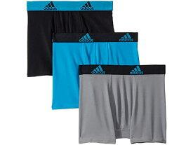 (取寄)アディダス ボーイズ キッズ スポーツ パフォーマンス クリマライト 3パック ボクサー ブリーフ (ビッグ キッズ) adidas Boy's Kids Sport Performance Climalite 3-Pack Boxer Brief (Big Kids) Solar Blue/Black/Black/Solar Blue/Grey/Black