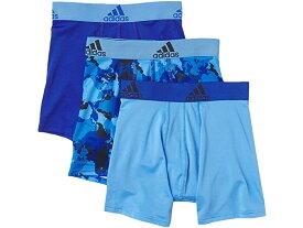 (取寄)アディダス ボーイズ キッズ スポーツ パフォーマンス クリマライト グラフィック 3パック ボクサー ブリーフ (ビッグ キッズ) adidas Boy's Kids Sport Performance Climalite Graphic 3-Pack Boxer Brief Team Royal Blue/Continent Camo/Real Blue/Team Royal