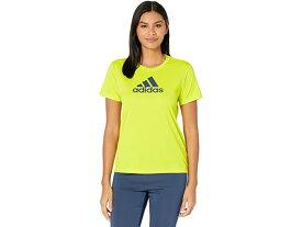 (取寄)アディダス レディース プライムブルー デザインド 2 ムーブ ロゴ スポーツ ティー adidas Women's Primeblue Designed 2 Move Logo Sport Tee Acid Yellow/Crew Navy