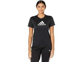 (取寄)アディダス レディース プライムブルー デザインド 2 ムーブ ロゴ スポーツ ティー adidas Women's Primeblue Designed 2 Move Logo Sport Tee Black/White