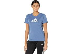(取寄)アディダス レディース プライムブルー デザインド 2 ムーブ ロゴ スポーツ ティー adidas Women's Primeblue Designed 2 Move Logo Sport Tee Crew Blue/White