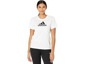 (取寄)アディダス レディース プライムブルー デザインド 2 ムーブ ロゴ スポーツ ティー adidas Women's Primeblue Designed 2 Move Logo Sport Tee White/Black