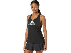 (取寄)アディダス レディース エアロレディ デザインド 2 ムーブ ロゴ スポーツ タンク トップ adidas Women's AEROREADY Designed 2 Move Logo Sport Tank Top Black/White