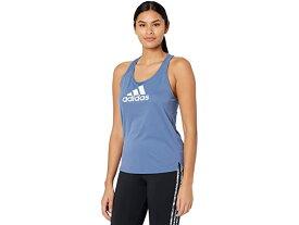 (取寄)アディダス レディース エアロレディ デザインド 2 ムーブ ロゴ スポーツ タンク トップ adidas Women's AEROREADY Designed 2 Move Logo Sport Tank Top Crew Blue/White