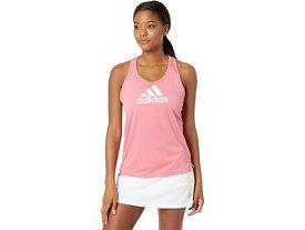 (取寄)アディダス レディース エアロレディ デザインド 2 ムーブ ロゴ スポーツ タンク トップ adidas Women's AEROREADY Designed 2 Move Logo Sport Tank Top Hazy Rose/White