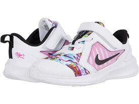 (取寄)ナイキ ガールズ キッズ ダウンシフター 10 ファーブル (インファント/トドラー) Nike Girl's Kids Downshifter 10 Fable (Infant/Toddler) White/Black/Fire Pink/Blue Fury