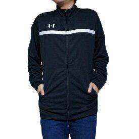 アンダーアーマー ジャージ メンズ チーム キャンパス ウォームアップ ジャケット UNDER ARMOUR Men's Team Campus Warm-Up Jacket Black White【コンビニ受取対応商品】