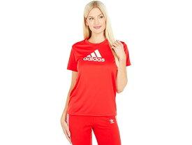(取寄)アディダス レディース プライムブルー デザインド 2 ムーブ ロゴ スポーツ ティー adidas Women's Primeblue Designed 2 Move Logo Sport Tee Vivid Red/White